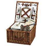 Picnic at Ascot Cheshire English-Style Willow Picnic Basket with Service for 2 – London Plaid Review