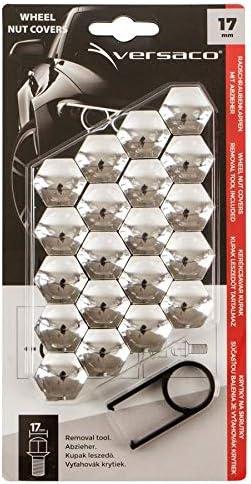 Versaco Wheel Nut Covers x 20 Fitss Citroen C4 Picasso Grand Picasso 2007 17mm Chrome