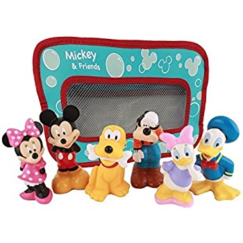 Amazon Com Disney Mickey Mouse And Friends Bath Toys For