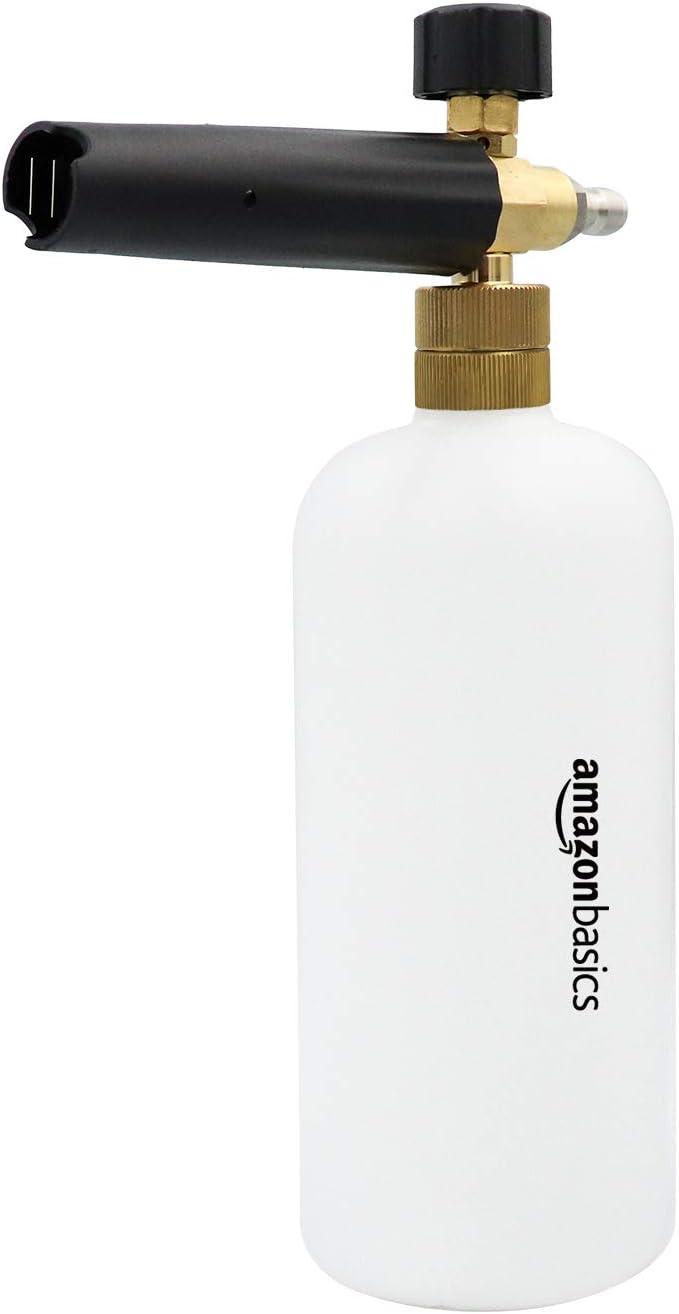 AmazonBasics - Pulverizador de espuma con conector rápido de 1/4 para pistola de lavado a presión, compatible solo con conector rápido de 1/4, 0.22 galones
