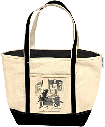 New Yorker Canvas Tote Bag - Internet Dog