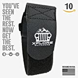 "Jeep Wrangler | Pack of 10 Durable Tie Down Straps | 20"" x 1.5"" Hook & Loop Fasteners 