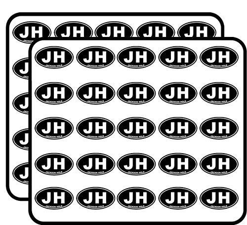 Black Oval JH Jackson Hole (City wy Wyoming) Sticker for Scrapbooking, Calendars, Arts, Kids DIY Crafts, Album, Bullet Journals]()