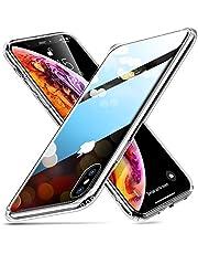 ESR Cover Marmo per iPhone XS Max, Custodia Protettiva in Vetro Temperato 9H [Asseconda Il Vetro Retrostante][AntiGraffio] + Cornice Paraurti in Silicone Morbido [Antiurti] per iPhone XS Max (2018)