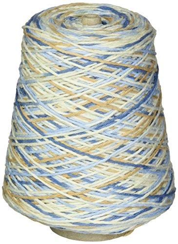 Cream Cone Sugar Yarn N - Premier Yarns 1032-14 Home Cotton Yarn - Multi Cone-Rustic Blue