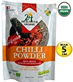 Organic Chili Powder - Chilli Powder - Bulk Size 5 LBS - USDA Certified Organic - ★ Best Price in Amazon - *** Very HOT *** - ★ Adulteration Free ★ Pesticides Free- 24 Mantra Organic