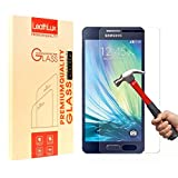 Galaxy A5 Screen Protector, Leathlux Premium Tempered Glass Rounded Edge [Bubble Free] [Anti-Scratch] [Easy Install] [HD] Ultra-Slim Clear Screen Protector for Samsung Galaxy A5 (2015 Version)