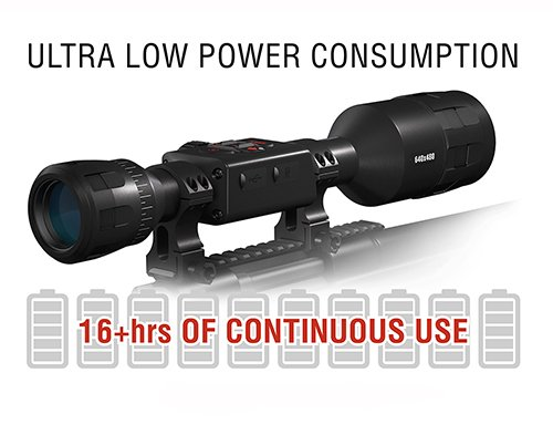 ATN Thor 4 Ultra low power consumption
