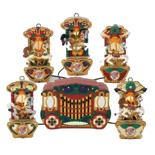 Mr Christmas Carousel.Mr Christmas Holiday Carousel A String Of Five Carousel Horses And A Control Box