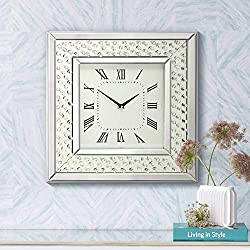 River Parks Studio Cielo Mirrored 20 Square Wall Clock