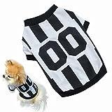 Howstar Pet Shirts Dogs Sport Vest Summer Sweatshirt Puppies Pet Clothes T-Shirt Apparel (L, White)