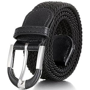 Mio Marino Elastic Belt for Men and Women – Woven Stretch Belt – Gift Box