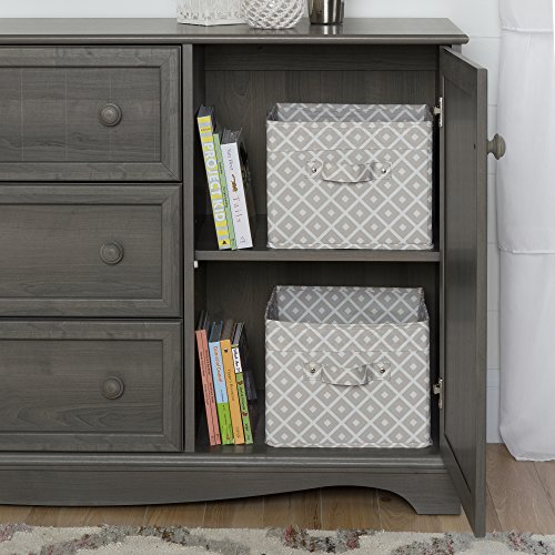 3-Drawer Dresser with Door in Gray Maple, 2 Closed Storage Spaces, Bedroom Furniture, Metal Drawer Slides, Adjustable Shelf, Laminated Particle Board, Bundle with Expert Guide for Better Life by X Trade Store (Image #4)