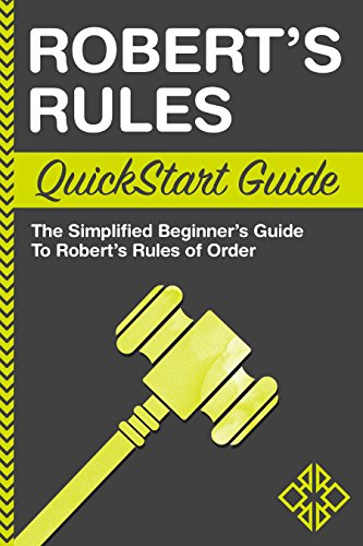 amazon com robert s rules quickstart guide the simplified