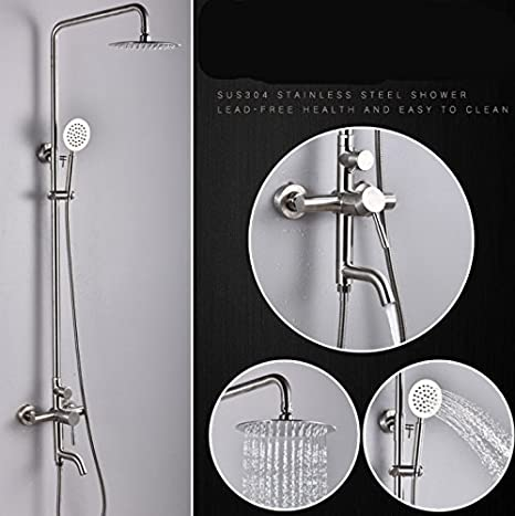 X-shower Conjunto De Baño 304 De Acero Inoxidable Tres ...