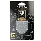rolling cutter - Arteza 28mm Quilting Rotary Cutter Replacement Blades, Fits Olfa & Fiskars (SKS-7, Pack of 12)