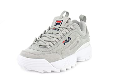3de22f90254 Amazon.com | Fila Womens Disruptor II Premium Grey/Grey/White ...
