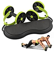 Awesome Exercise Fitness Health Care Core Dual Wheels Ab Roller Pull Rope Abdominal Waist Slimming Trainer Workout Equipment