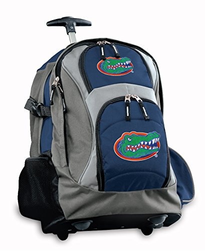 Official Logo Ncaa Backpack - Broad Bay Florida Gators Rolling Backpack or University of Florida CarryOn Suitcase Bag OFFICIAL NCAA BAGS