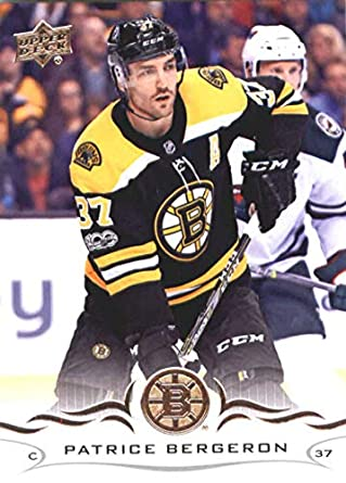 678e042d0 2018-19 Upper Deck  19 Patrice Bergeron Boston Bruins NHL Hockey Trading  Card