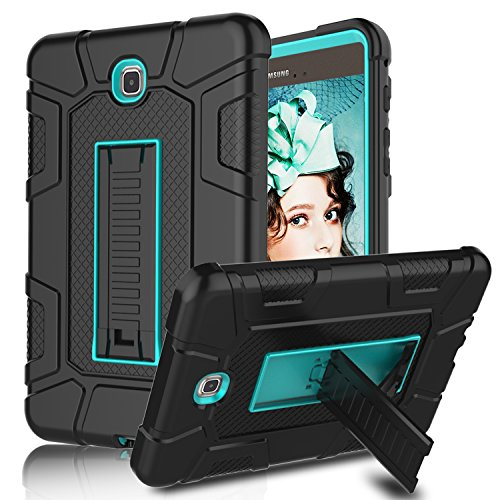 Galaxy Tab A 8.0 Case, Elegant Choise Heavy Duty Three Layer Full Body Protection Armor Defender Protective Case Cover with Kickstand for Samsung Galaxy Tab A 8.0 inch / SM-T350NZ (Blue/Black)