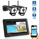 CasaCam VS1002 Wireless Security Camera System with HD Spotlight Cameras and 7