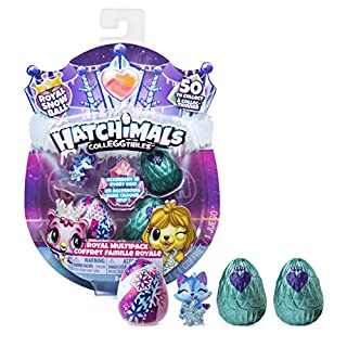 Hatchimals CollEGGtibles, Royal Multipack with 4 Hatchimals and Accessories, for Kids Aged 5 and up (Styles May Vary)