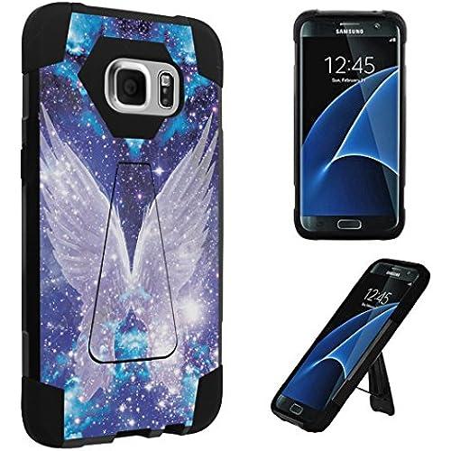 Galaxy S7 Edge Case, DuroCase  Transforma Kickstand Bumper Case for Samsung Galaxy S7 Edge SM-G935 (Released in 2016) - (Wings In Space) Sales