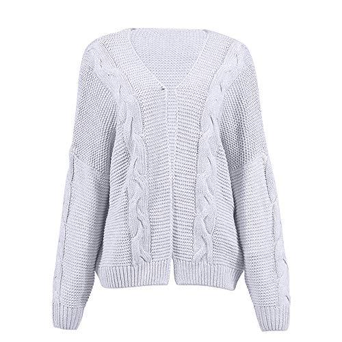BOZEVON Suéter para Mujer - Chaqueta de Punto Casual con Cuello Redondo y Manga Suelta de Murciélago de Otoño e Invierno