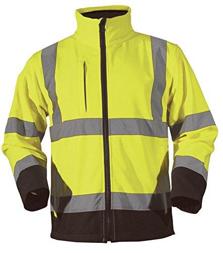 Blackrock Men's Hi Vis Soft Shell Jacket,, Gelb, XXXX, groß, Schwarz