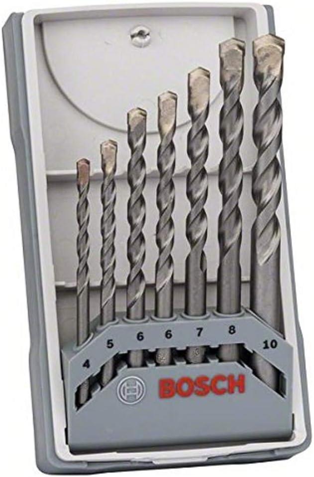 Bosch Professional 2 607 017 082 Bosch 082-Juego de 7 brocas para hormigón CYL-3-4 5 6 6 7 8 10 mm (pack de 7), 0 W, 0 V, Gris