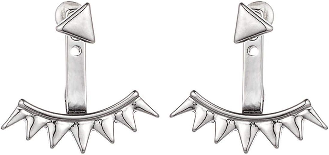 3 Par pendiente cristal para mujeres Ear Stud clip del oído Jewelry