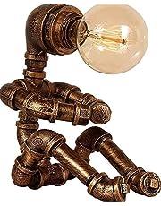 Lampa stołowa Robot-Retro Przemysłowy Steampunk Country Lampa stołowa-Retro Lampa stołowa domowa, nadaje się do sypialni, biura, łóżka, stolika nocna, bar lub sklep