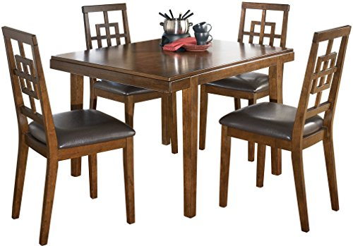 Everything Furniture Dining Table - Ashley Furniture Signature Design - Cimeran Dining Room Table and Chairs Set - 1 Table and 4 Chairs - Set of 5 - Medium Brown