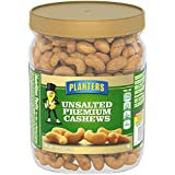 Planters Unsalted Premium Cashews, 26.0 oz Jar