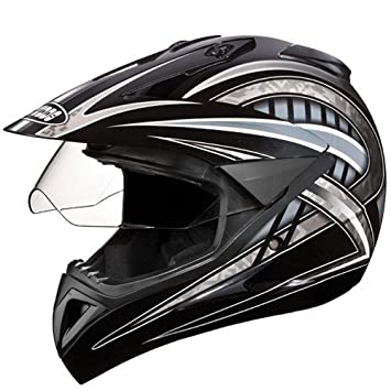 db85ee2d Image Unavailable. Image not available for. Colour: Studds Motocross D2  Helmet With Visor (Black ...
