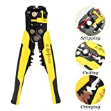 DIFFLIFE Self-Adjusting Wire Stripper,Cable Cutter Crimper,Automatic Wire Stripping Tool/Cutting Pliers Tool for Industry
