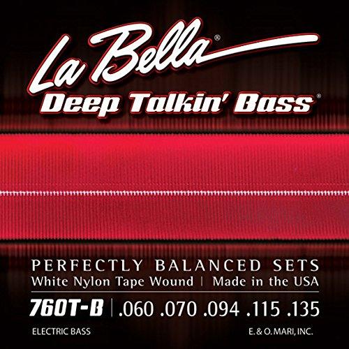 La Bella 760T-B White Nylon Tapewound Bass Strings - Standard 5-string .060-.135