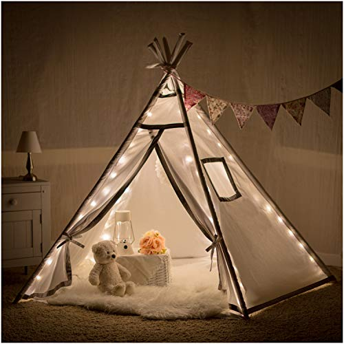 Teepee Tent for Girls, Boys - Twinkle Lit