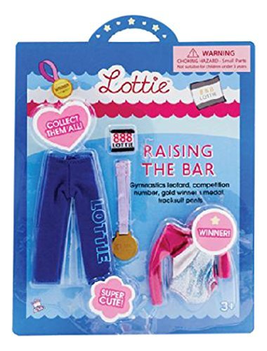Raising the Bar gymnastics clothes outfit set for Lottie doll by Arklu