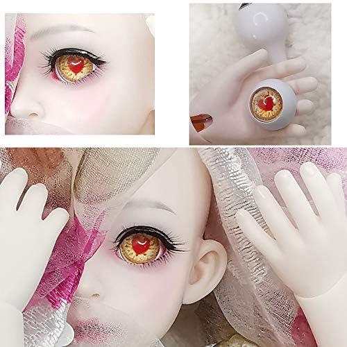アリスの人形屋Bjd 目 16 ミリメートル 18 ミリメートル 20 ミリメートル 14 ミリメートル赤ハート人形目 Bjd 目 1/3 1/4 1/6 BJD 人形おもちゃ sd 眼球プリント人形アクリル目