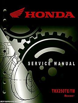 61hm860 2005 2017 honda trx250te tm recon atv service manual rh amazon com 1985 Honda TRX 250 Wiring Diagram 1999 Honda 300 FourTrax Wiring-Diagram
