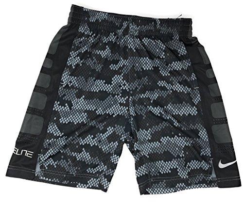 Nike Elite Boys Camoflauge Camo Black Gray Grey 903772 060 - Black Camoflauge