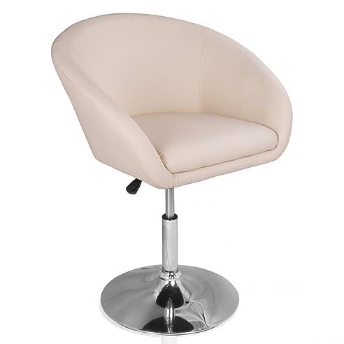 Drehsessel höhenverstellbar  Homelux Lounge-Sessel Clubsessel Kunstleder Höhenverstellbar Creme ...