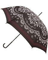 Kung Fu Smith Vintage Flower Totem Print Bubble Dome Rain Umbrella