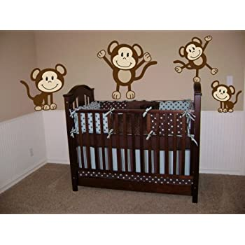Amazon.Com: Monkeys Wall Decals Sticker Nursery Decor Art Mural