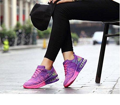 Rose 6 Coussin Unisexes Amateurs De Chaussures Violet Bluelover Course Casual Sport Baskets D'air ZPxaWq4B
