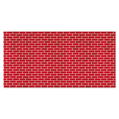 Fadeless Designs Bulletin Board Paper, Brick, 50 ft x 48, Sold as 1 Roll PACON CORPORATION