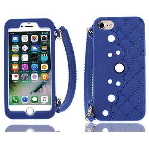 iPhone 7 Copertura,iPhone 7 Custodia,rosa borsetta del fumetto 3D bella copertura molle della cassa del silicone di TPU della pelle protettiva della pelle Case Cover per iPhone 7 4.7 inch colour 1