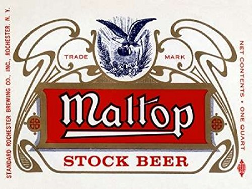 Maltop Stock Beer - Maltop Stock Beer Poster Print by Vintage Booze Labels (9 x 12)